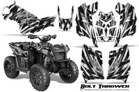 Polaris-Scrambler-850-XP-2013-2014-CreatorX-Graphics-Kit-Bolt-Thrower-White