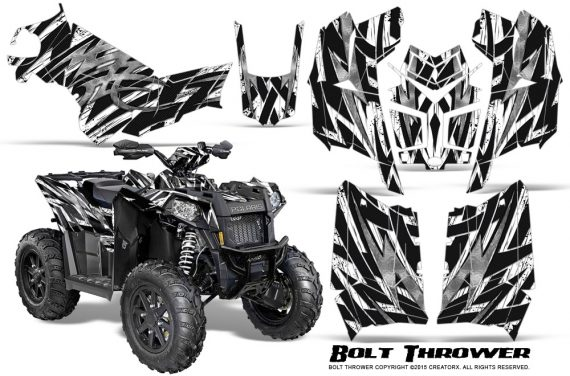 Polaris Scrambler 850 XP 2013 2014 CreatorX Graphics Kit Bolt Thrower White 570x376 - Polaris Scrambler 850 1000 2013-2016 Graphics