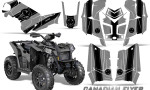 Polaris Scrambler 850 XP 2013 2014 CreatorX Graphics Kit Canadian Flyer Black Silver 150x90 - Polaris Scrambler 850 1000 2013-2016 Graphics