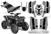 Polaris-Scrambler-850-XP-2013-2014-CreatorX-Graphics-Kit-Canadian-Flyer-Black-Silver