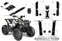 Polaris-Scrambler-850-XP-2013-2014-CreatorX-Graphics-Kit-Canadian-Flyer-Black-White