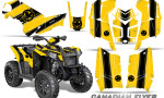Polaris Scrambler 850 XP 2013 2014 CreatorX Graphics Kit Canadian Flyer Black Yellow 150x90 - Polaris Scrambler 850 1000 2013-2016 Graphics