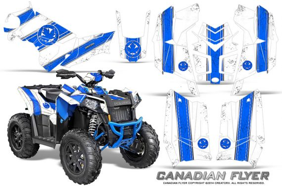 Polaris-Scrambler-850-XP-2013-2014-CreatorX-Graphics-Kit-Canadian-Flyer-Blue-White