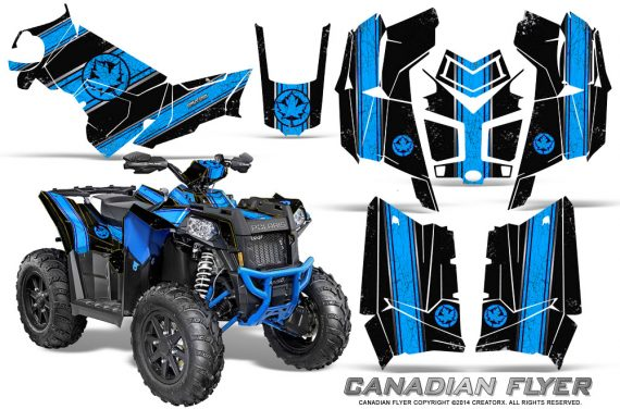 Polaris-Scrambler-850-XP-2013-2014-CreatorX-Graphics-Kit-Canadian-Flyer-BlueIce-Black