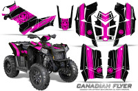 Polaris-Scrambler-850-XP-2013-2014-CreatorX-Graphics-Kit-Canadian-Flyer-Pink-Black