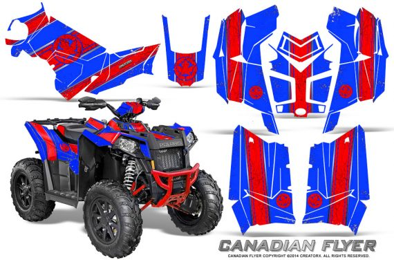 Polaris Scrambler 850 XP 2013 2014 CreatorX Graphics Kit Canadian Flyer Red Blue 570x376 - Polaris Scrambler 850 1000 2013-2016 Graphics