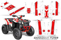 Polaris-Scrambler-850-XP-2013-2014-CreatorX-Graphics-Kit-Canadian-Flyer-Red-White