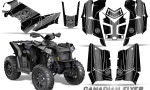 Polaris Scrambler 850 XP 2013 2014 CreatorX Graphics Kit Canadian Flyer Silver Black 150x90 - Polaris Scrambler 850 1000 2013-2016 Graphics