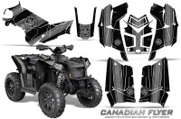 Polaris-Scrambler-850-XP-2013-2014-CreatorX-Graphics-Kit-Canadian-Flyer-Silver-Black