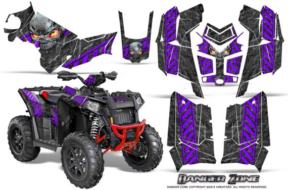 Polaris Scrambler 850 XP 2013 2014 CreatorX Graphics Kit Danger Zone Purple 570x376 - Polaris Scrambler 850 1000 2013-2016 Graphics