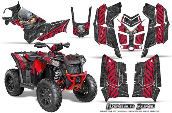 Polaris Scrambler 850 XP 2013 2014 CreatorX Graphics Kit Danger Zone Red 570x376 - Polaris Scrambler 850 1000 2013-2016 Graphics
