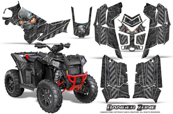Polaris Scrambler 850 XP 2013 2014 CreatorX Graphics Kit Danger Zone Silver 570x376 - Polaris Scrambler 850 1000 2013-2016 Graphics
