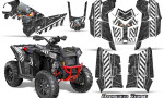 Polaris Scrambler 850 XP 2013 2014 CreatorX Graphics Kit Danger Zone White 150x90 - Polaris Scrambler 850 1000 2013-2016 Graphics