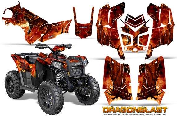 Polaris Scrambler 850 XP 2013 2014 CreatorX Graphics Kit Dragonblast 570x376 - Polaris Scrambler 850 1000 2013-2016 Graphics