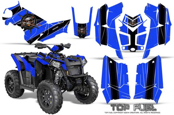 Polaris Scrambler 850 XP 2013 2014 CreatorX Graphics Kit Top Fuel Black Blue 570x376 - Polaris Scrambler 850 1000 2013-2016 Graphics