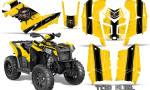 Polaris Scrambler 850 XP 2013 2014 CreatorX Graphics Kit Top Fuel Black Yellow 150x90 - Polaris Scrambler 850 1000 2013-2016 Graphics