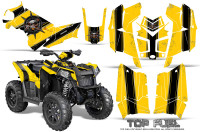 Polaris-Scrambler-850-XP-2013-2014-CreatorX-Graphics-Kit-Top-Fuel-Black-Yellow