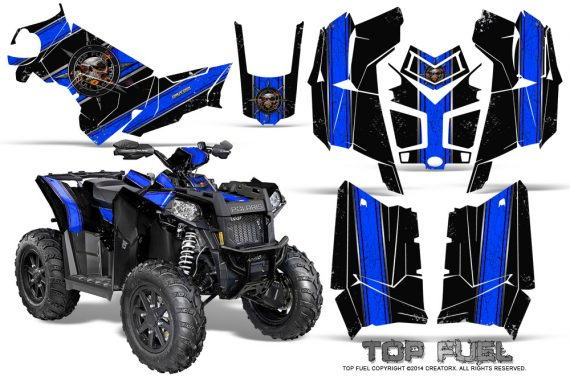 Polaris Scrambler 850 XP 2013 2014 CreatorX Graphics Kit Top Fuel Blue Black 570x376 - Polaris Scrambler 850 1000 2013-2016 Graphics