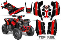 Polaris-Scrambler-850-XP-2013-2014-CreatorX-Graphics-Kit-Top-Fuel-Red-Black