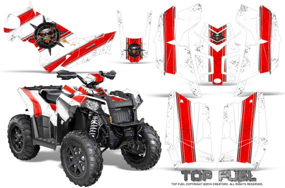 Polaris Scrambler 850 XP 2013 2014 CreatorX Graphics Kit Top Fuel Red White 570x376 - Polaris Scrambler 850 1000 2013-2016 Graphics