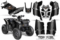 Polaris-Scrambler-850-XP-2013-2014-CreatorX-Graphics-Kit-Top-Fuel-Silver-Black