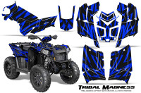 Polaris-Scrambler-850-XP-2013-2014-CreatorX-Graphics-Kit-Tribal-Madness-Blue