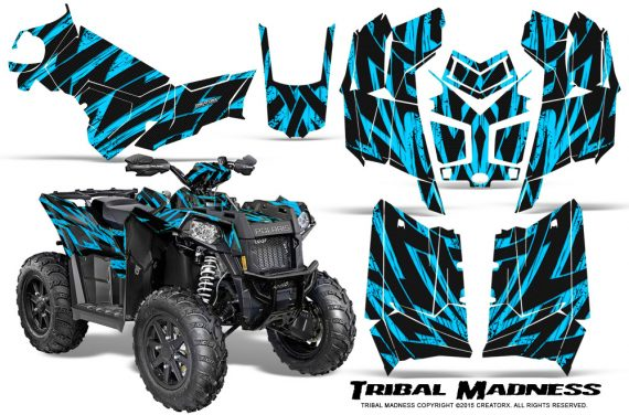 Polaris Scrambler 850 XP 2013 2014 CreatorX Graphics Kit Tribal Madness BlueIce 570x376 - Polaris Scrambler 850 1000 2013-2016 Graphics