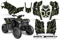 Polaris-Scrambler-850-XP-2013-2014-CreatorX-Graphics-Kit-Tribal-Madness-GreenArmy