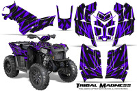 Polaris-Scrambler-850-XP-2013-2014-CreatorX-Graphics-Kit-Tribal-Madness-Purple
