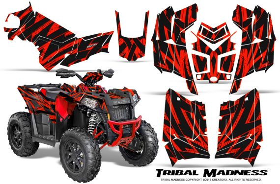 Polaris Scrambler 850 XP 2013 2014 CreatorX Graphics Kit Tribal Madness Red 570x376 - Polaris Scrambler 850 1000 2013-2016 Graphics