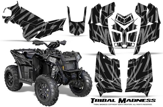 Polaris Scrambler 850 XP 2013 2014 CreatorX Graphics Kit Tribal Madness Silver 570x376 - Polaris Scrambler 850 1000 2013-2016 Graphics