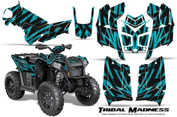 Polaris Scrambler 850 XP 2013 2014 CreatorX Graphics Kit Tribal Madness Teal 570x376 - Polaris Scrambler 850 1000 2013-2016 Graphics