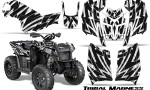 Polaris Scrambler 850 XP 2013 2014 CreatorX Graphics Kit Tribal Madness White 150x90 - Polaris Scrambler 850 1000 2013-2016 Graphics