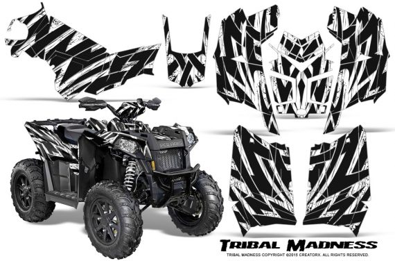Polaris-Scrambler-850-XP-2013-2014-CreatorX-Graphics-Kit-Tribal-Madness-White
