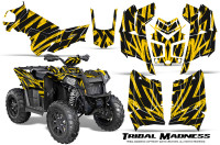 Polaris-Scrambler-850-XP-2013-2014-CreatorX-Graphics-Kit-Tribal-Madness-Yellow