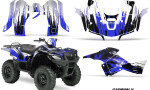 Suzuki King Quad 500AXI Graphic Kit Vinyl CarbonX Blue 150x90 - Suzuki King Quad 500 AXi 2013-2015 Graphics