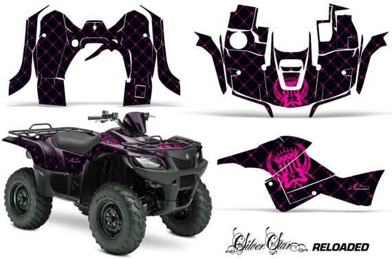 Suzuki-King-Quad-500AXI-Graphic-Kit-Vinyl-Silver-Star-Reloaded-Pink