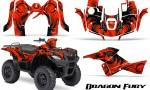 Suzuki King Quad 500AXI CreatorX Graphics Kit Dragon Fury Black Red 150x90 - Suzuki King Quad 500 AXi 2013-2015 Graphics