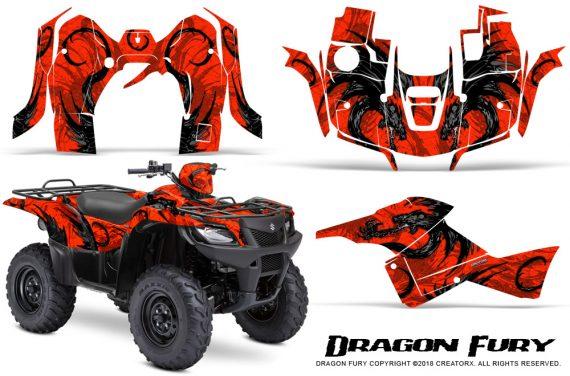 Suzuki King Quad 500AXI CreatorX Graphics Kit Dragon Fury Black Red 570x376 - Suzuki King Quad 500 AXi 2013-2015 Graphics