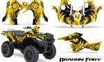 Suzuki King Quad 500AXI CreatorX Graphics Kit Dragon Fury Black Yellow 150x90 - Suzuki King Quad 500 AXi 2013-2015 Graphics