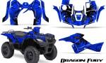 Suzuki King Quad 500AXI CreatorX Graphics Kit Dragon Fury Blue Blue 150x90 - Suzuki King Quad 500 AXi 2013-2015 Graphics