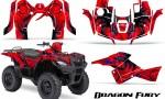 Suzuki King Quad 500AXI CreatorX Graphics Kit Dragon Fury Blue Red 150x90 - Suzuki King Quad 500 AXi 2013-2015 Graphics