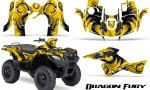 Suzuki King Quad 500AXI CreatorX Graphics Kit Dragon Fury Blue Yellow 150x90 - Suzuki King Quad 500 AXi 2013-2015 Graphics