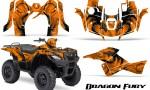 Suzuki King Quad 500AXI CreatorX Graphics Kit Dragon Fury Orange Orange 150x90 - Suzuki King Quad 500 AXi 2013-2015 Graphics
