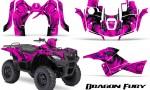 Suzuki King Quad 500AXI CreatorX Graphics Kit Dragon Fury Purple Pink 150x90 - Suzuki King Quad 500 AXi 2013-2015 Graphics