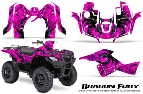Suzuki King Quad 500AXI CreatorX Graphics Kit Dragon Fury Purple Pink 570x376 - Suzuki King Quad 500 AXi 2013-2015 Graphics