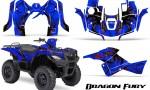 Suzuki King Quad 500AXI CreatorX Graphics Kit Dragon Fury Red Blue 150x90 - Suzuki King Quad 500 AXi 2013-2015 Graphics