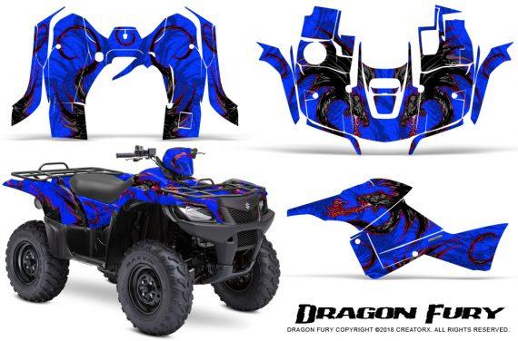 Suzuki King Quad 500AXI CreatorX Graphics Kit Dragon Fury Red Blue 570x376 - Suzuki King Quad 500 AXi 2013-2015 Graphics