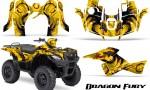 Suzuki King Quad 500AXI CreatorX Graphics Kit Dragon Fury Red Yellow 150x90 - Suzuki King Quad 500 AXi 2013-2015 Graphics