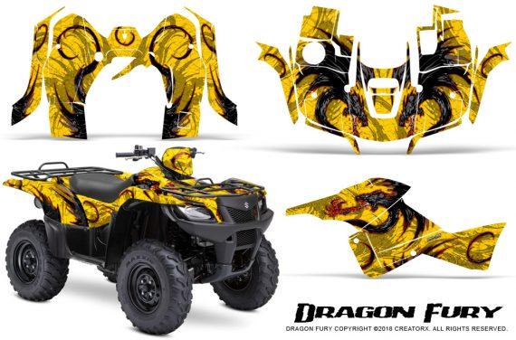 Suzuki King Quad 500AXI CreatorX Graphics Kit Dragon Fury Red Yellow 570x376 - Suzuki King Quad 500 AXi 2013-2015 Graphics
